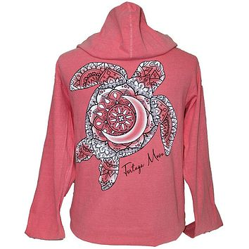 Southern Attitude Tortuga Moon Turtle Pullover Shirt Hoodie
