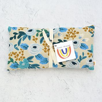 Oversized Eye Pillow in Rosa Floral Blue Canvas