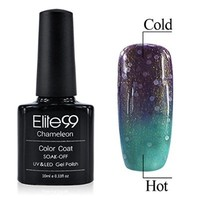 Chameleon Temperature Changing Colour Nail Lacquers Soak Off UV LED Gel Polish Petunia - Medium Aquamarine