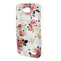 LG Optimus L70 Case , TUTUWEN Beautiful Flower Style Soft TPU Case Flexible Protective Rear Cover for LG Optimus L70