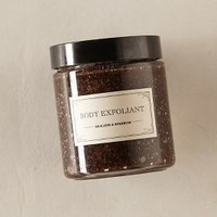 Mullein & Sparrow Body Exfoliant in Black Size: One Size Fragrance