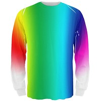 LGBT Rainbow Fade All Over Adult Long Sleeve T-Shirt