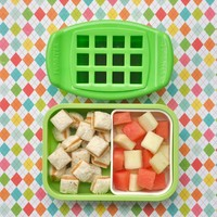 FunBites Shaped Food Cutter Set Green/Pink