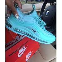 NIKE AIR MAX 97 Fashion Women Casual Running Sneakers Sport Shoes Blue