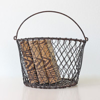Vintage Wire Basket - Crinkle Wire