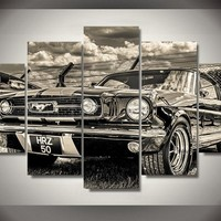 Classic Ford Mustang 5-Piece Wall Art Canvas