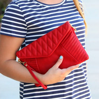 Chic Clutch - Red
