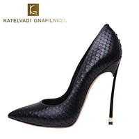 Jaleenia Ardori Women Shoes High Heels Women Pumps Stiletto 12CM Heels Sexy Shoes Woman High Heels Patent Leather Pointed Toe High Heels B-0029 Macchar Cosplay Catalogue