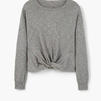 Flecked cotton-blend sweater - Cardigans and sweaters for Women | MANGO USA