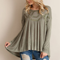 Free Flowin' Top - Olive