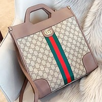GUCCI New fashion stripe more letter leather shoulder bag women crossbody bag handbag