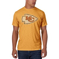 Kansas City Chiefs - Logo Scrum Premium Yellow T-Shirt