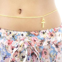 Ankh Belly Chain