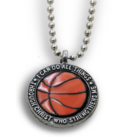 I Can Do Basketball Necklace