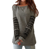 T Shirt Women Long Sleeve Tees Fashion Brand Sexy Print T-Shirts Embroidery Knitted Slim Novelty Autumn Tops Plus Size