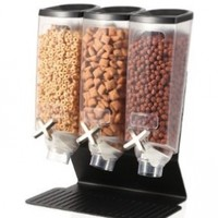 Rosseto® Three Container EZ-PRO(TM) H3B Snack Dispenser With Black Steel Stand (1 Gallon Each) EZ50399