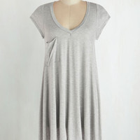 Long Short Sleeves A Crush on Casual Tunic in Grey