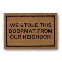 We Stole This Doormat Coir Doormat