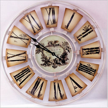 Quiet Home Gifts Weathered King Size Clock [6282893254]