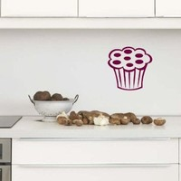 Wall Vinyl Sticker Decal Art Design Sweet Cupcake Cafe Kitchen Room Nice Picture Decor Hall Wall Chu460