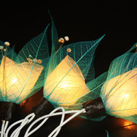 Fairy Lights - 20 Blue Sky Tone  Flower String Lights Fairy Lights Wedding Party Floral Home Decoration
