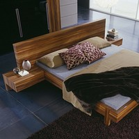 Gap Walnut Platform Bed & Rossetto Gap Walnut Bed | YLiving