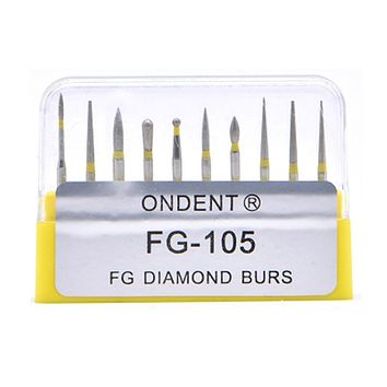 10pcs/Box Dental Diamond Burs Drill Dental Burs Dia-burs for High Speed Handpiece Medium FG105 106 Dental Tools Dentistry Lab