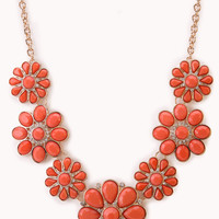 FOREVER 21 Floral Goddess Bib Necklace