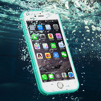 Waterproof 360 Full Cover Phone Cases Cover For iPhone X 8 7 se 5S 6 6S 6 Plus + Gift Box