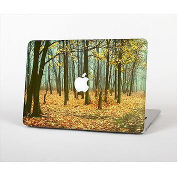 """The Subtle Gold Autumn Forrest Skin Set for the Apple MacBook Air 11"""""""
