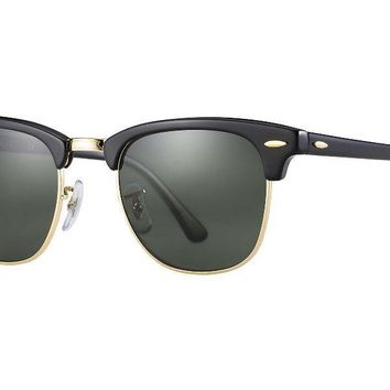 Ray-Ban RB3016 Clubmaster (W0365) 49mm Black/Green Classic G15