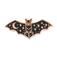 Creature Of The Night Bat Pin - Copper