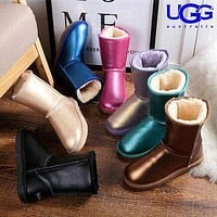 UGG Fashion Hot Selling Goods Casual Boots Solid Color Mid-Leg Women With Wool Boots Shoes