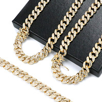 "14k Gold PT 10mm 8.5"" - 24"" Miami Cuban Choker Chain Necklace Bracelet"