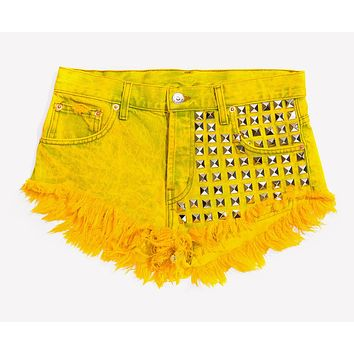 902 Sunrise Studded Babe Shorts - Limited