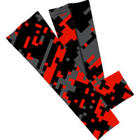 Red Gray Digi Zoomed Arm Sleeve