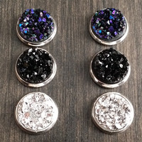 Druzy earring set- Night out drusy stud set - druzy earrings