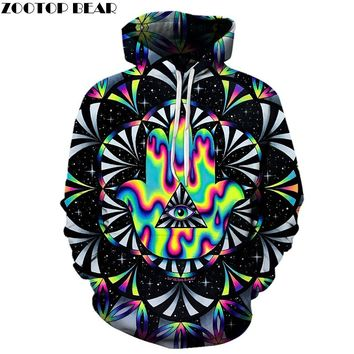 Trippy hamsa Printed 3d Hoodies Men Hoodie Autumn Sweatshirts Unisex Pullover Novelty Outwear Jackets Male Tracksuits Brand Coat