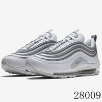 HCXX 19July 979 Nike Wmns Air Max 97 Reflective Sliver 921826-105 Flyknit Breathable Running Shoes