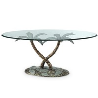 SPI Home Collection Palm Tree Coffee Table