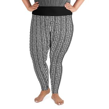 Rhythm Black and White Plus Size Leggings