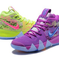 Best Deal Online Nike Kyrie 4 Ivring Confetti Racer Blue Men Sneakers
