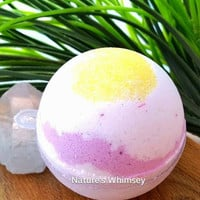 Bath Bomb Plumeria flower scented bath fizzy bath fizzies lush like bath bomb gifts for her shower favors wedding favor