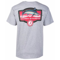 NCAA Alabama Crimson Tide Guy Harvey Master's Mens Grey T-Shirt