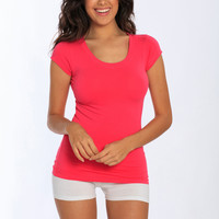 Miami Style® - Cotton / Spandex Scoop Neck Tee