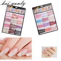 144PCS Mixed Set False Nail Tips Artificial Fake Nails Art Accessories Acrylic Manicure Gel Beauty Makeup Tools Oct 1