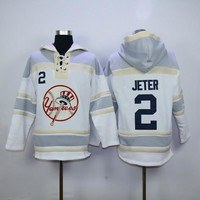 New York Yankees Jersey Hooded Sweatshirt 2 Derek Jeter 19 Masahiro Tanaka 22 Jacoby Ellsbury 42 Mariano Rivera Mens 100% Stitched Jerseys