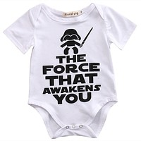 Newborn Toddler Infant Baby Boy Girl Bodysuit the force that awakens you Short Sleeve Clothes Outfits Clothes