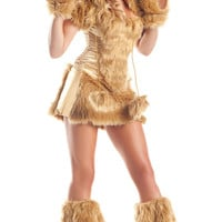 Brown Bear Costume Corset Top With Furry