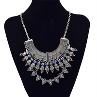 Vintage Silver Statement Necklaces Necklace Women Gifts Costume Jewelry
